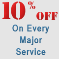10 Percent Off Major Services